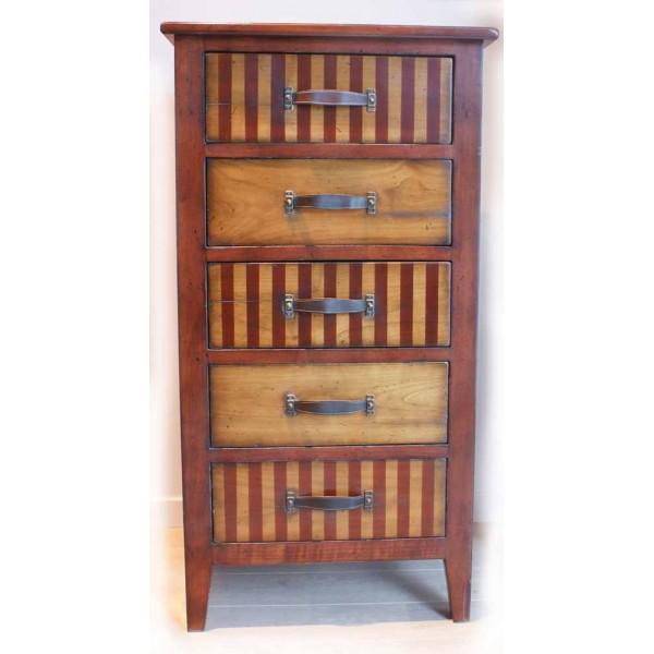 Commode de voyage 5 tiroirs la maison rivet lozano - Commode plusieurs tiroirs ...